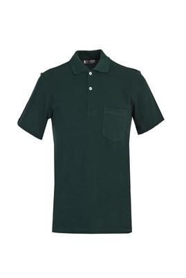 Erkek Giyim - KOYU YEŞİL XL Beden Polo Yaka Regular Fit Tişört