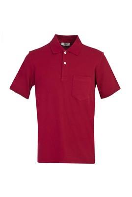 Erkek Giyim - ŞARAP BORDO XXL Beden Polo Yaka Regular Fit Tişört
