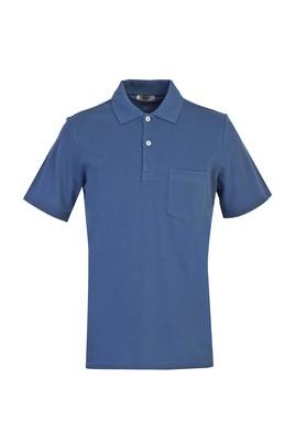 Erkek Giyim - KOYU PETROL M Beden Polo Yaka Regular Fit Tişört