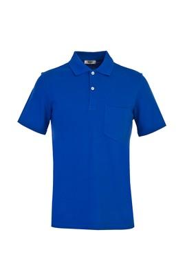 Erkek Giyim - KOYU MAVİ M Beden Polo Yaka Regular Fit Tişört
