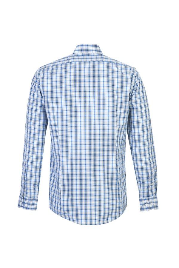 Uzun Kol Slim Fit Ekose Gömlek