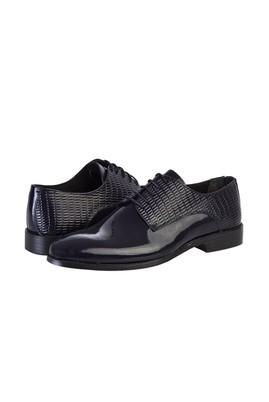 Erkek Giyim - KOYU LACİVERT 40 Beden Klasik Rugan Ayakkabı