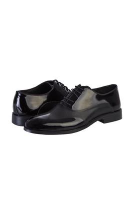 Erkek Giyim - SİYAH 45 Beden Klasik Rugan Ayakkabı