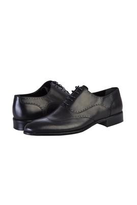 Erkek Giyim - SİYAH 40 Beden Bağcıklı Klasik Ayakkabı