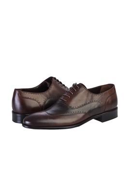 Erkek Giyim - KOYU KAHVE 43 Beden Bağcıklı Klasik Ayakkabı
