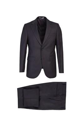 Erkek Giyim - KOYU FÜME 56 Beden Klasik Takım Elbise