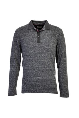 Erkek Giyim - AÇIK GRİ L Beden Polo Yaka Sweatshirt