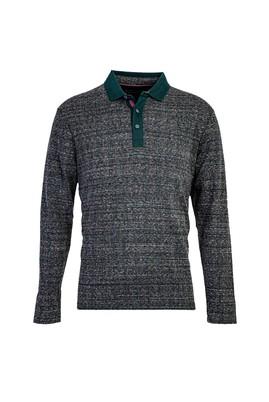 Erkek Giyim - ANTRASİT L Beden Polo Yaka Sweatshirt