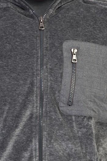 Erkek Giyim - Kapüşonlu Fermuarlı Sweatshirt