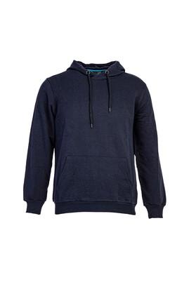 Erkek Giyim - LACİVERT L Beden Kapüşonlu Sweatshirt