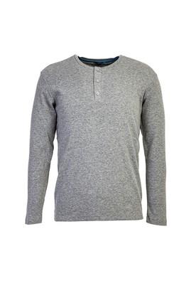 Erkek Giyim - ORTA FÜME L Beden Bisiklet Yaka Slim Fit Sweatshirt