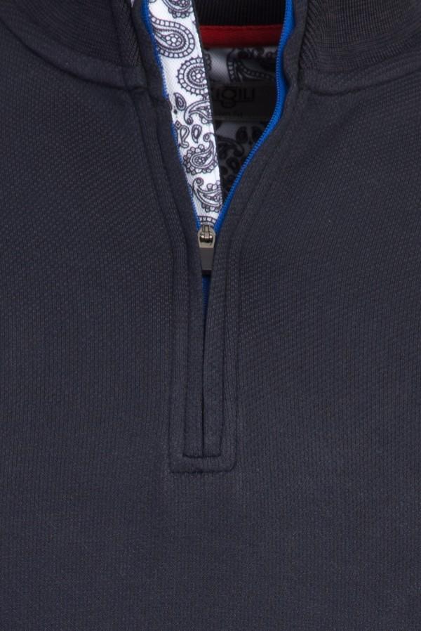 Bato Yaka Fermuarlı Slim Fit Sweatshirt