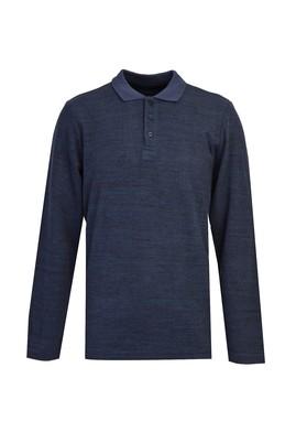 Erkek Giyim - ORTA LACİVERT M Beden Polo Yaka Sweatshirt