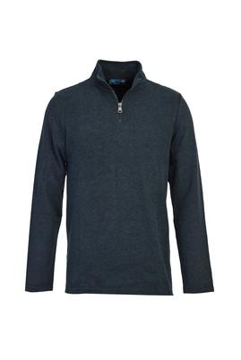 Erkek Giyim - ORTA LACİVERT M Beden Fermuarlı Sweatshirt