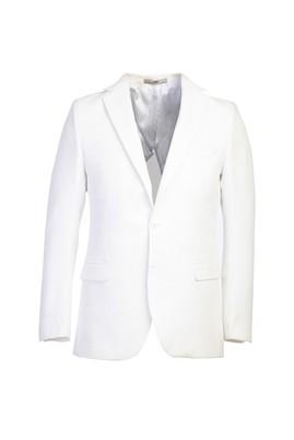 Erkek Giyim - BEYAZ 50 Beden Regular Fit Ceket