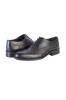 Erkek Giyim - SİYAH 41 Beden Bağcıklı Klasik Deri Ayakkabı