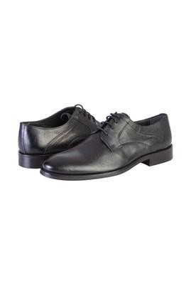 Erkek Giyim - SİYAH 44 Beden Bağcıklı Klasik Deri Ayakkabı