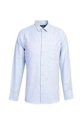 Erkek Giyim - GÖK MAVİSİ XL Beden Uzun Kol Desenli Gömlek
