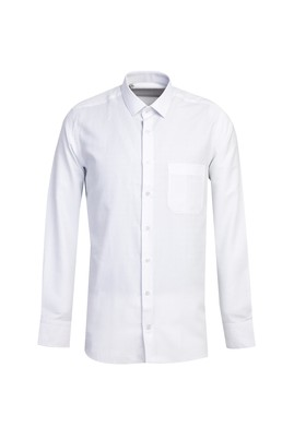 Erkek Giyim - BEYAZ L Beden Uzun Kol Desenli Gömlek