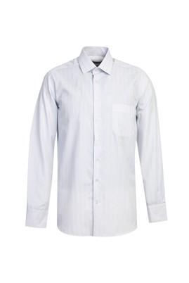 Erkek Giyim - UÇUK MAVİ L Beden Uzun Kol Çizgili Gömlek