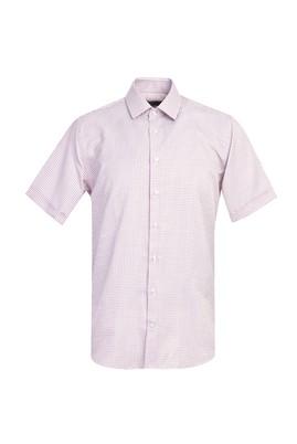 Erkek Giyim - ORTA KAHVE 3X Beden Kısa Kol Regular Fit Desenli Gömlek