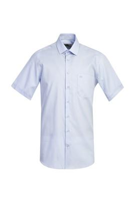 Erkek Giyim - UÇUK MAVİ 3X Beden Kısa Kol Regular Fit Oxford Gömlek