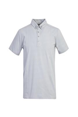 Erkek Giyim - ORTA FÜME S Beden Polo Yaka Slim Fit Tişört