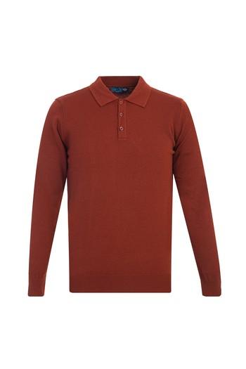 Erkek Giyim - Polo Yaka Regular Fit Triko Kazak