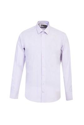 Erkek Giyim - LİLA S Beden Uzun Kol Slim Fit Desenli Gömlek