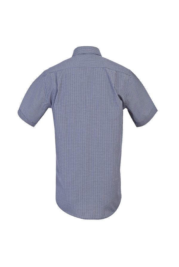 Regular Fit Kısa Kol Ekose Gömlek