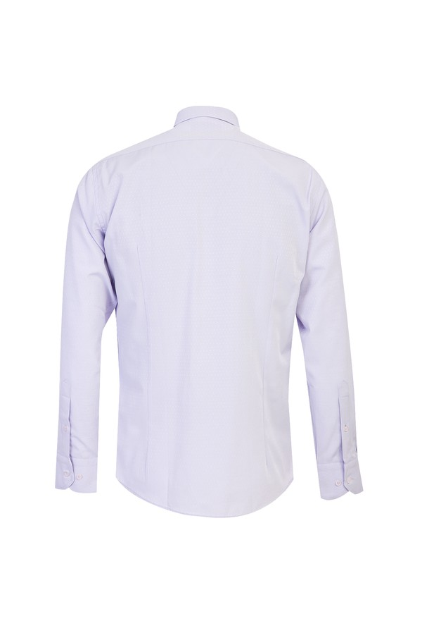Uzun Kol Slim Fit Desenli Gömlek