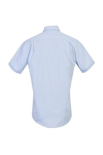 Erkek Giyim - Kısa Kol Klasik Desenli Gömlek