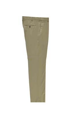 Erkek Giyim - KÜF YEŞİLİ 46 Beden Slim Fit Klasik Yünlü Pantolon