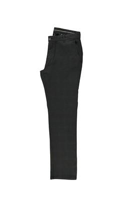 Erkek Giyim - SİYAH 56 Beden Klasik Ekose Pantolon