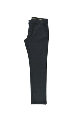 Erkek Giyim - ORTA LACİVERT 50 Beden Klasik Ekose Pantolon