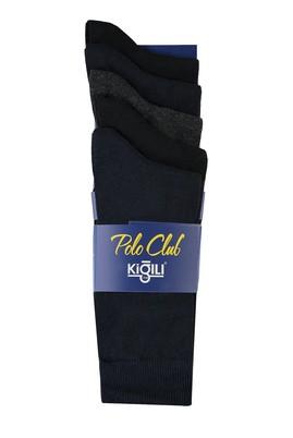 Erkek Giyim - SİYAH 40-44 Beden 5'li Düz Çorap