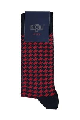 Erkek Giyim - AÇIK LACİVERT 40 Beden Desenli Çorap