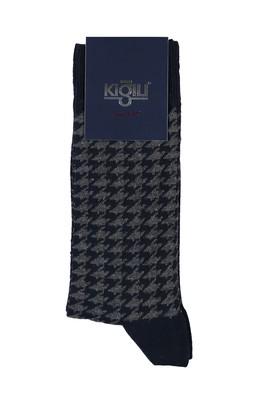 Erkek Giyim - ORTA LACİVERT 40 Beden Desenli Çorap