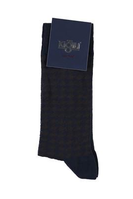 Erkek Giyim - KOYU LACİVERT 40 Beden Desenli Çorap