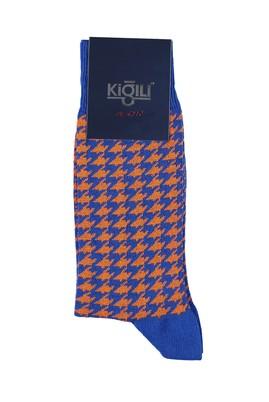 Erkek Giyim - SAKS MAVİ 40 Beden Desenli Çorap