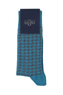 Erkek Giyim - ORTA PETROL 40 Beden Desenli Çorap