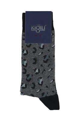 Erkek Giyim - ORTA FÜME 40 Beden Desenli Çorap