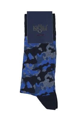 Erkek Giyim - KOYU MAVİ 40 Beden Desenli Çorap