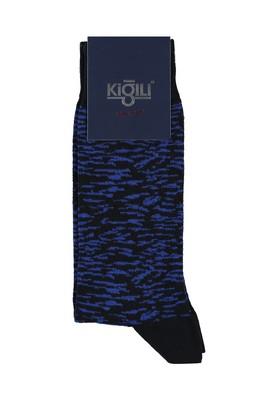 Erkek Giyim - AÇIK SİYAH 40 Beden Desenli Çorap