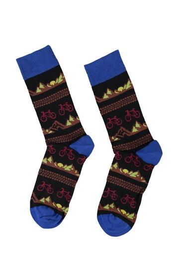 Erkek Giyim - Desenli Soket Çorap