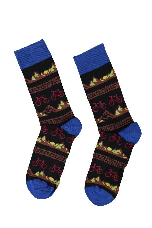 Desenli Soket Çorap