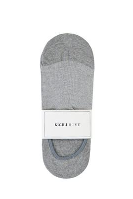Erkek Giyim - AÇIK GRİ MELANJ 40-44 Beden Loafer Çorap