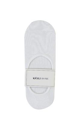 Erkek Giyim - BEYAZ 40-44 Beden Loafer Çorap