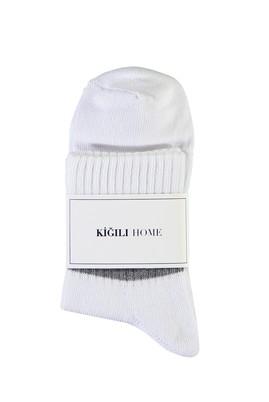 Erkek Giyim - BEYAZ -1 40-44 Beden Spor Soket Çorap