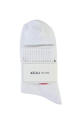Erkek Giyim - BEYAZ -2 40-44 Beden Spor Soket Çorap